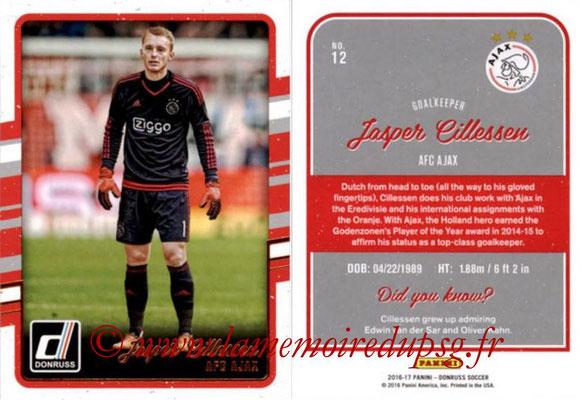 2016 - Panini Donruss Cards - N° 012 - Jasper CILLESSEN (AFC Ajax)