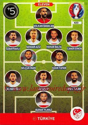 Panini Euro 2016 Cards - N° 423 - Équipe Type de Turquie