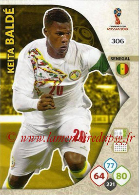 2018 - Panini FIFA World Cup Russia Adrenalyn XL - N° 306 - Keita BALDE (Senegal)