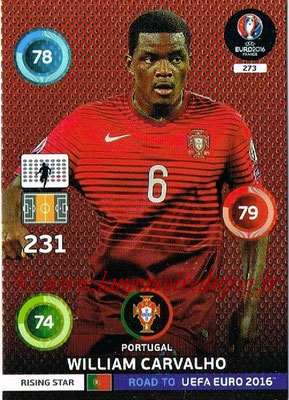 Panini Road to Euro 2016 Cards - N° 273 - William CARVALHO (Portugal) (Rising Star)