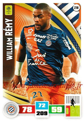 2016-17 - Panini Adrenalyn XL Ligue 1 - N° 218 - William REMY (Montpellier)