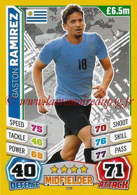 Topps Match Attax England 2014 - N° 228 - Gaston RAMIREZ (Uruguay)