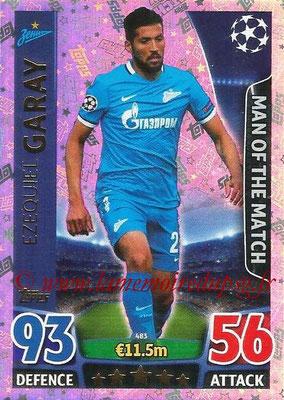 2015-16 - Topps UEFA Champions League Match Attax - N° 483 - Ezequiel GARAY (FC Zenit) (Man of the Match)