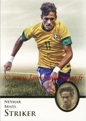 2013 - Futera World Football Unique - N° 126 - NEYMAR (Brésil) (Striker) (Master)