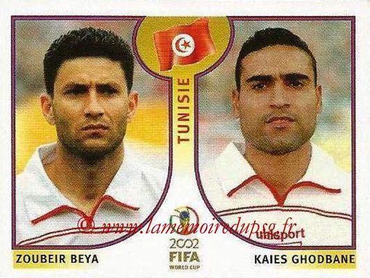 2002 - Panini FIFA World Cup Stickers - N° 574 - Zoubeir BEYA + Kaies GHODBANE (Tunisie)