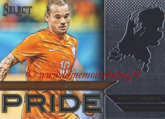 2015 - Panini Select Soccer - N° NP50 - Wesley SNEIDJER (Pays-Bas) (National Pride)
