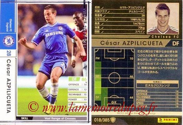 2013-14 - WCCF - N° 018 - César AZPILICUETA (Chelsea FC)