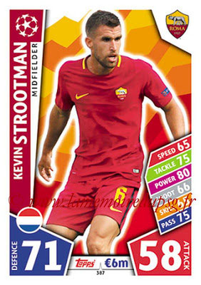 2017-18 - Topps UEFA Champions League Match Attax - N° 387 - Kevin STROOTMAN (AS Roma)