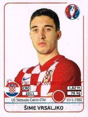 Panini Euro 2016 Stickers - N° 443 - Sime VRSALJKO (Croatie)