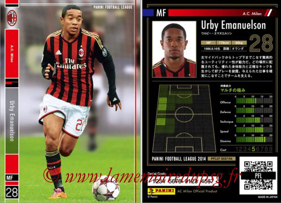 Panini Football League 2014 - PFL07 - N° 003 - Urby EMANUELSON (Milan AC)