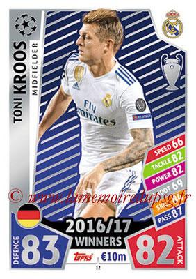 2017-18 - Topps UEFA Champions League Match Attax - N° 012 - Toni KROOS (Real Madrid CF)