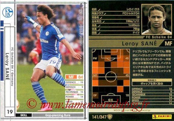 2015-16 - Panini WCCF - N° 141 - Leroy SANE (FC Schalke 04)
