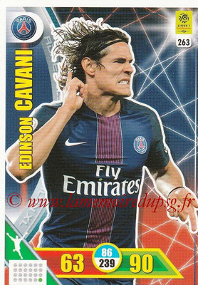 2017-18 - Panini Adrenalyn XL Ligue 1 - N° 263 - Edinson CAVANI (Paris Saint-Germain)