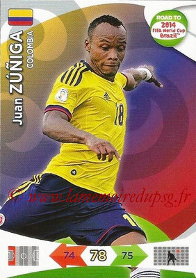 2014 - Panini Road to FIFA World Cup Brazil Adrenalyn XL - N° 029 - Juan ZUNIGA (Colombie)