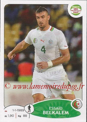 2014 - Panini Road to FIFA World Cup Brazil Stickers - N° 374 - Essaïd BELKALEM (Algérie)