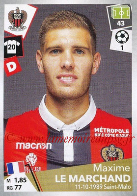 2017-18 - Panini Ligue 1 Stickers - N° 342 - Maxime LE MARCHAND (Nice)