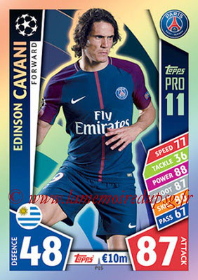2017-18 - Topps UEFA Champions League Match Attax - N° P15 - Edinson CAVANI (Paris Saint-Germain) (Pro 11)