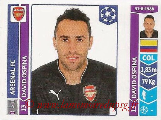 2014-15 - Panini Champions League N° 264 - David OSPINA (Arsenal FC)