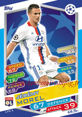 2016-17 - Topps UEFA Champions League Match Attax - N° LYO4 - Jeremy MOREL (Olympique Lyonnais)
