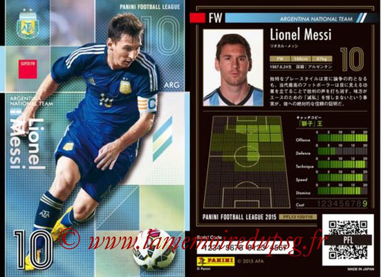Panini Football League 2015 - PFL13 - N° 105 - Lionel MESSI (Argentine) (Super FW)