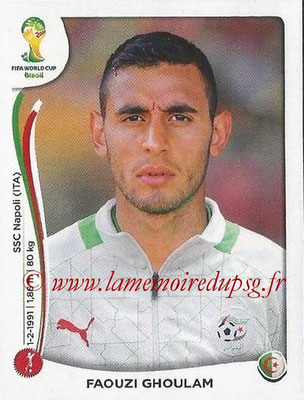 2014 - Panini FIFA World Cup Brazil Stickers - N° 591 - Faouzi GHOULAM (Algérie)