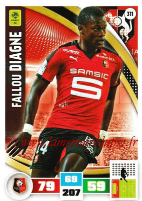2016-17 - Panini Adrenalyn XL Ligue 1 - N° 311 - Fallou DIAGNE (Rennes)