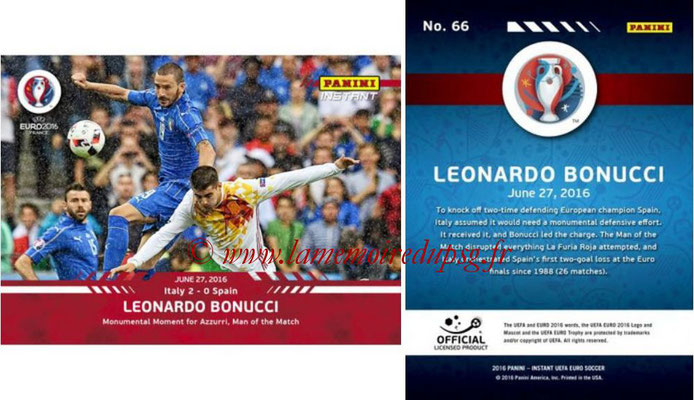 Panini Instant Euro 2016 - N° 066 - Leonardo BONUCCI