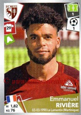 2017-18 - Panini Ligue 1 Stickers - N° 253 - Emmanuel RIVIERE (Metz)