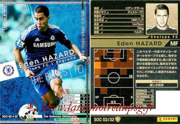 2014-15 - WCCF - N° SOC02 - Eden HAZARD (Chelsea FC) (Stars Of the Club)