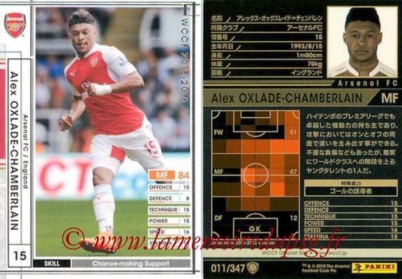 2015-16 - Panini WCCF - N° 011 - Alex OXLADE-CHAMBERLAIN (Arsenal FC)