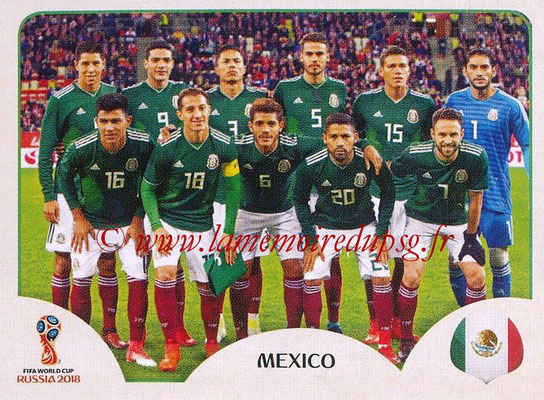 2018 - Panini FIFA World Cup Russia Stickers - N° 453 - Equipe Mexique