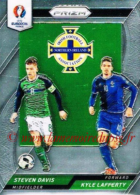 Euro 2016 Panini Prizm - N° CCD-18 - Steven DAVIS + Kyle LAFFERTY (Irlande du Nord) (Country Combinaions Duals)