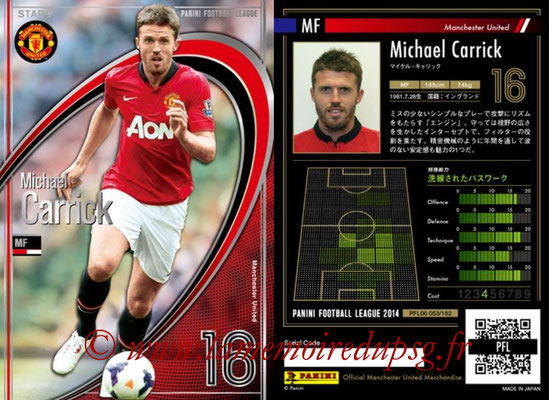 Panini Football League 2014 - PFL06 - N° 053 - Michael CARRICK (Manchester United FC) (Star +)