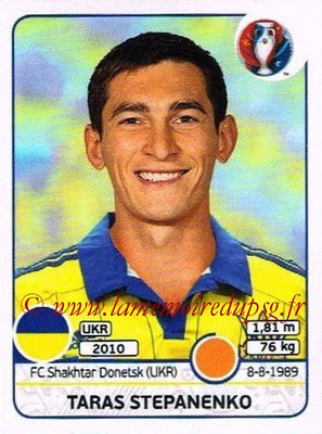 Panini Euro 2016 Stickers - N° 283 - Taras STEPANENKO (Ukraine)