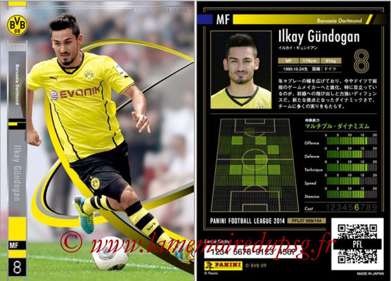 Panini Football League 2014 - PFL07 - N° 089 - Ilkay GÜNDOGAN (Borussia Dortmund)