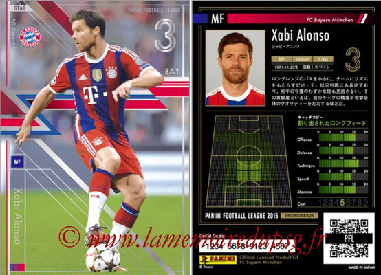 Panini Football League 2015 - PFL09 - N° 084 - Xabi ALONSO (Bayern Munich) (Star)