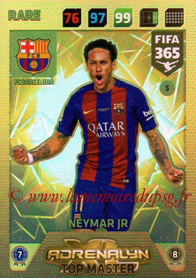2017-18 - Panini FIFA 365 Cards - N° 005 - NEYMAR Jr. (FC Barcelone) (Top Master)