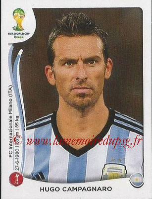 2014 - Panini FIFA World Cup Brazil Stickers - N° 418 - Hugo CAMPAGNARO (Argentine)