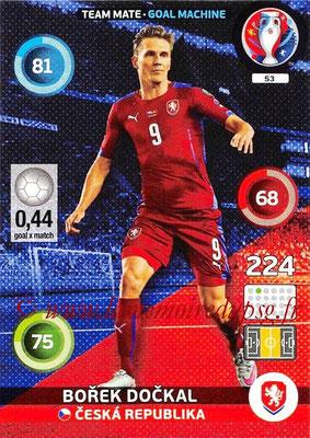 Panini Euro 2016 Cards - N° 053 - Borek DOCKAL (République Tchèque) (Goal Machine)