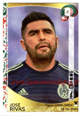 Panini Copa America Centenario USA 2016 Stickers - N° 213 - Jose RIVAS (Mexique)