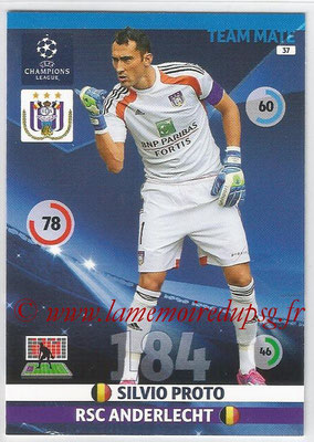 2014-15 - Adrenalyn XL champions League N° 037 - Silvio PROTO (RSC Anderlecht)