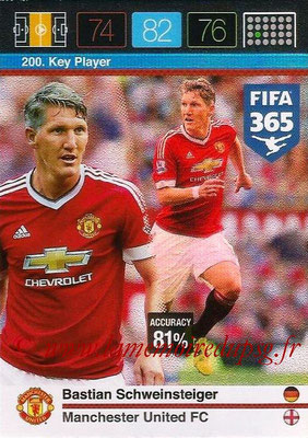 2015-16 - Panini Adrenalyn XL FIFA 365 - N° 200 - Bastian SCHWEINSTEIGER (Manchester United FC) (Key Player)