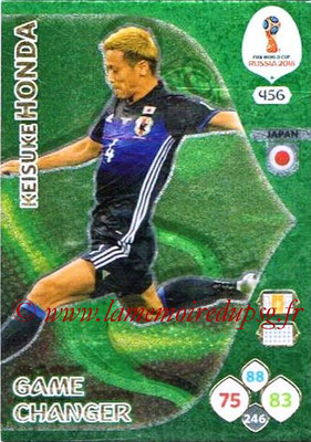 2018 - Panini FIFA World Cup Russia Adrenalyn XL - N° 456 - Keisuke HONDA (Japon) (Game Changer)