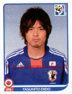 2010 - Panini FIFA World Cup South Africa Stickers - N° 387 - Yahusito ENDO (Japon)