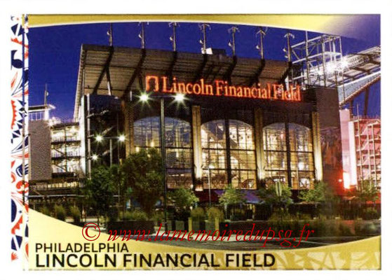 Panini Copa America Centenario USA 2016 Stickers - N° 007 - Lincoln Financial Field Philadelphia