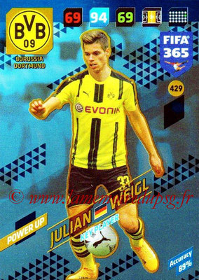 2017-18 - Panini FIFA 365 Cards - N° 429 - Julian WEIGL (Borussia Dortmund) (Key Player)
