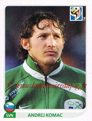 2010 - Panini FIFA World Cup South Africa Stickers - N° 250 - Andrej KOMAC (Slovenie)