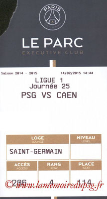 Tickets PSG-Caen  2014-15