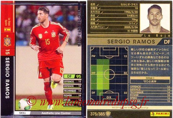 2013-14 - WCCF - N° 375 - Sergio RAMOS (Espagne)