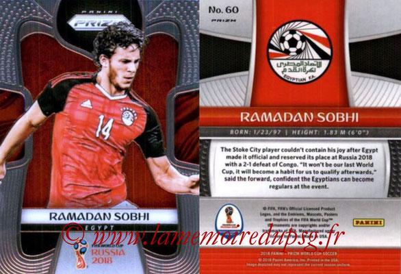 2018 - Panini Prizm FIFA World Cup Russia - N° 060 - Ramadan SOBHI (Egypte)